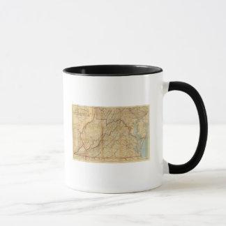 Mug Carte de l'état de Virginie