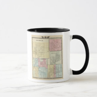 Mug Carte de Litchfield, Carlinsville, Salem