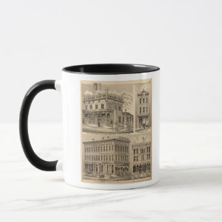 Mug Carte de lithographie de St Paul, Minneapolis,