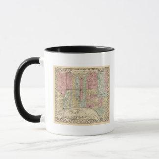 Mug Carte de Philadelphie par Mitchell