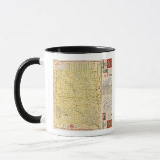 Mug Carte de route N et S Dakota