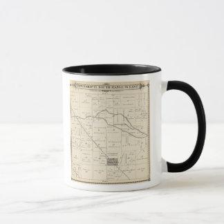 Mug Carte de section de T17S R25E Tulare County