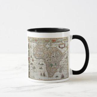 Mug Carte de Vieux Monde antique de l'Afrique, C. 1635