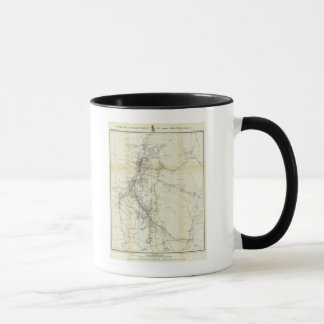 Mug Carte d'ensemble de secteur de Washoe
