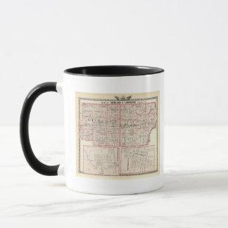Mug Carte des comtés de Richland et de Lawrence
