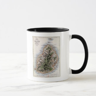 Mug Carte des Îles Maurice, illustration 'Paul et