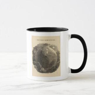Mug Carte d'hémisphère de l'ouest par Goodrich
