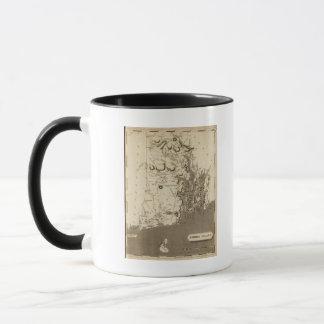 Mug Carte d'Île de Rhode par Arrowsmith