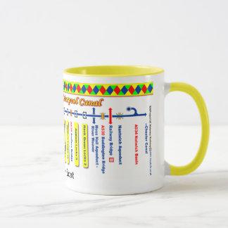 Mug Carte d'itinéraire de canal de Birmingham et de