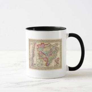 Mug Carte du Brésil, Bolivie, Paraguay, Uruguay par