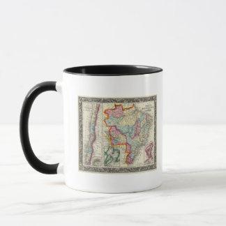 Mug Carte du Brésil, de la Bolivie, du Paraguay, et de