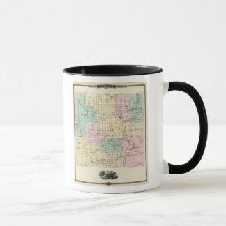 Mug Carte du comté de Barron, état du Wisconsin