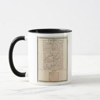 Mug Carte du comté de Brown avec le plan de Nashville