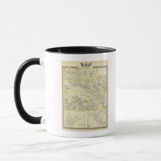 Mug Carte du comté de Clay, de Flora et de Louisville