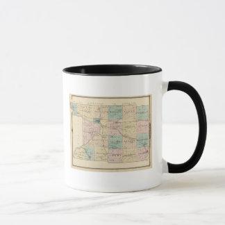 Mug Carte du comté de Columbia, état du Wisconsin