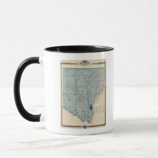 Mug Carte du comté de Des Moines, état de l'Iowa
