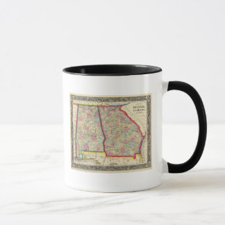 Mug Carte du comté de la Géorgie, et de l'Alabama