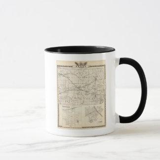 Mug Carte du comté de Perry, de Nashville et de Carmi