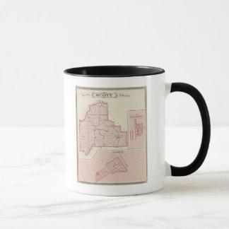Mug Carte du comté de Scott avec Lexington, Scottsburg