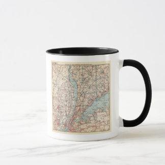 Mug Carte du comté de Westchester, New York