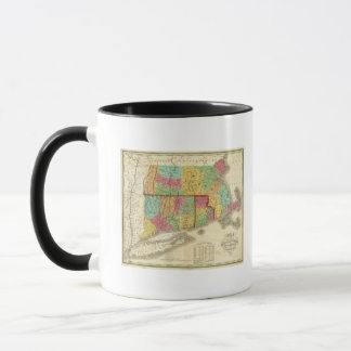 Mug Carte du Massachusetts le Connecticut et d'Île de
