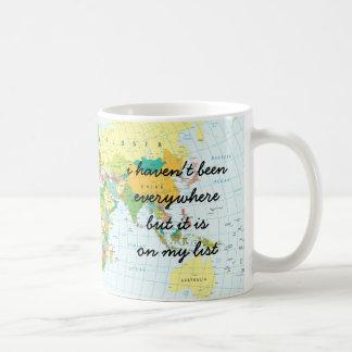 Mug Carte du monde - je n'ai pas été partout…