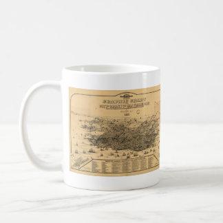 Mug Carte imagée vintage de San Francisco (1875)