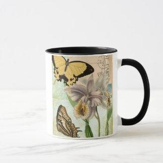 Mug Carte postale vintage avec des papillons et des