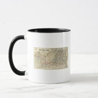 Mug Carte Richmond et Louisville rr