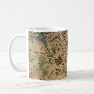 Mug Carte vintage de champ de bataille d'Antietam