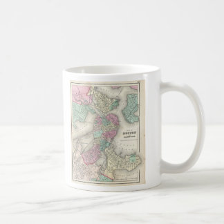 Mug Carte vintage du port de Boston (1857)