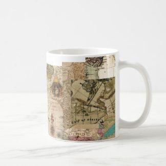 Mug Cartes vintages de style d'antiquité de Vieux