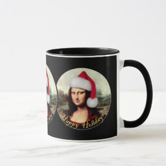 Mug Casquette de Père Noël de Noël de Mona Lisa