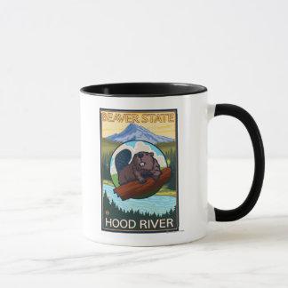 Mug Castor et capot de Mt. - la rivière Hood, Orégon