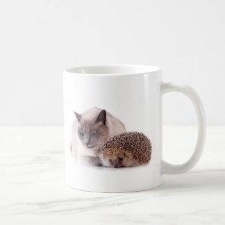 Mug cat and hedgehog