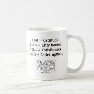 Mug Cats_-_Cartoon_2, 1 chat = Cattitude 2 chats = Ki…