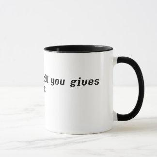 Mug Ce qui ne tue pas vous vous donne l'EXP. Points