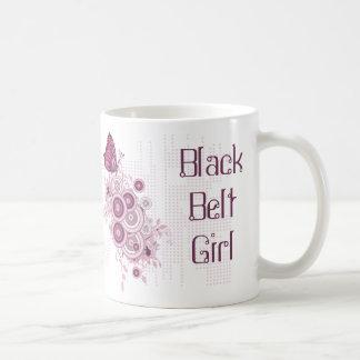Mug Ceinture noire d'arts martiaux roses abstraits de