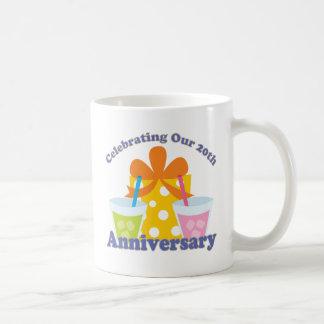 Mug Célébration de notre 20ème cadeau d'anniversaire