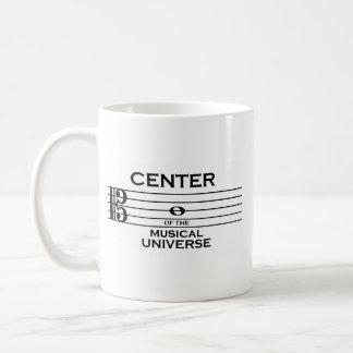 Mug Centre de la conception musicale de clef d'alto