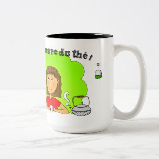 """Mug """"C'est l'heure du thé !"""" pour gaucher"""