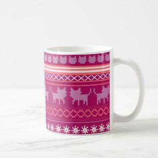 Mug Chandail laid de chat de Noël