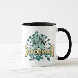 Mug Changements de Superman avec des étoiles