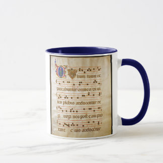 "Mug chant manuscript.jpg, chant grégorien : , Le ""Cu…"