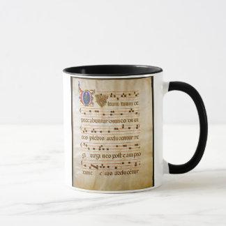 """Mug chant manuscript.jpg, chant grégorien : Le """"cutt…"""