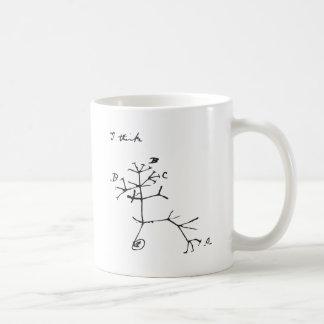 Mug Charles Darwin - je pense (le noir)