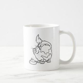 Mug Chat avec le bol de nourriture