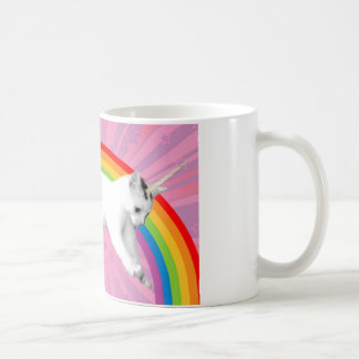 Mug Chat d'arc-en-ciel de licorne