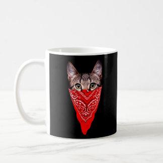 Mug chat de bandit - chat de bandana - bande de chat