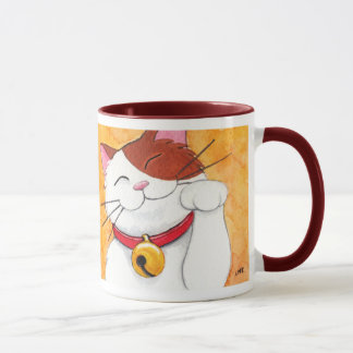 Mug Chat de calicot chanceux mignon de Maneki Neko